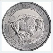 2015 Canadian Silver Bison Coin